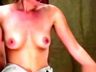 Black-haired Is Spanked 'till Her Anal Invasion Is Crimson