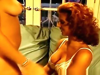 Retro Sandy-haired With Flawless Tits In All Girl Scene