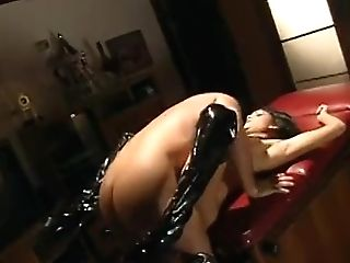 Old School Bobbed Dark Haired Fucking In Hip High Boots