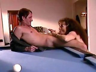 Keisha On A Pool Table