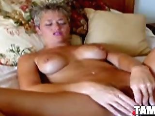 Matures Blonde Dildoing Her Moist Snatch